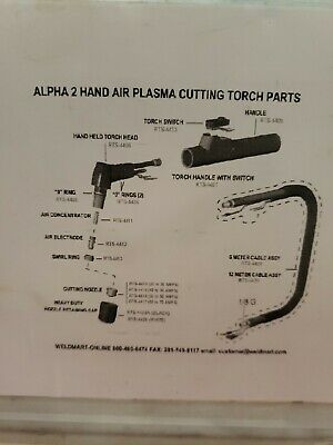 Alpha 2 Plasma torch parts