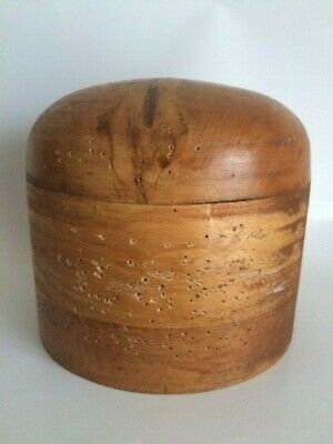 Vintage Wooden Hat Block Mold Form Millinery Head - FREE SHIPPING