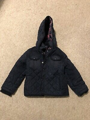 M&S boys coat Age 2-3 Quilted Navy Jacket