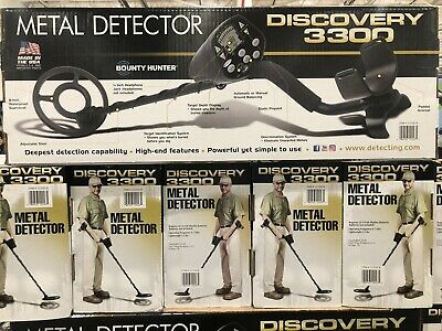 """Discovery 3300 Metal Detector Bounty Hunter 8"""" Coil, Lightweight, LCD Display"""