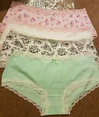 NWOTS Size 12-14 Joblot of 4 Pairs Of Ladies Knickers Briefs