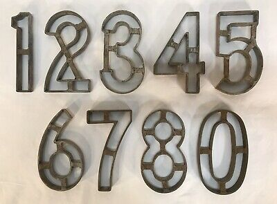 """Collection 9 Vintage 1973 KIRSTEN Iron 6"""" Numbers Cutting Fabrication"""