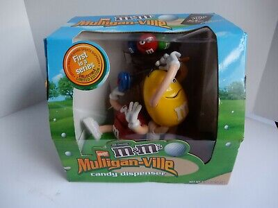 Collectible  M&M Candy Dispenser Golfing Mulligan-Ville  New In The Box!!!