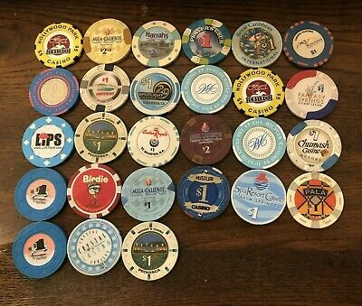 27 DIFFERENT CALIFORNIA INDIAN CASINO CHIPS-VARIOUS LOCATIONS & Other Misc