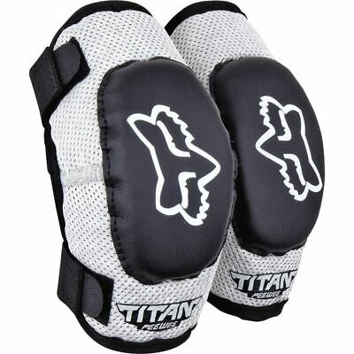 Fox Racing Titan Pee Wee Elbow Guards - Blk/Silver, All Sizes
