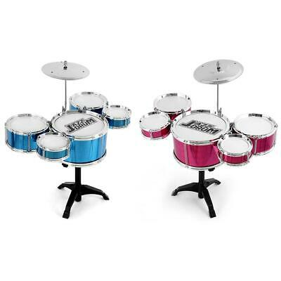 Rock Drum Kit Children's Cymbal Music Percussion Playset Stool Toy Xmas Gift