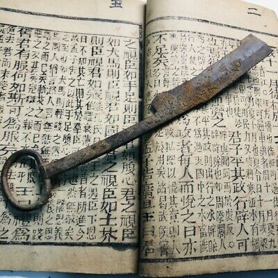 Chinese Bronze Knife for correcting bamboo slips writing. Warring states dynasty