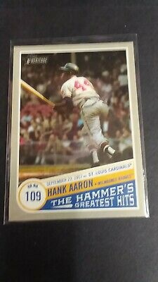 Hank Aaron 2019 Topps Heritage The Hammer's Greatest Hits #THGH-2