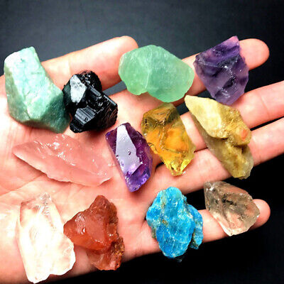 Natural Rough Fluorite Raw Crystal Rock Healing Quartz Treatment Stone Gift