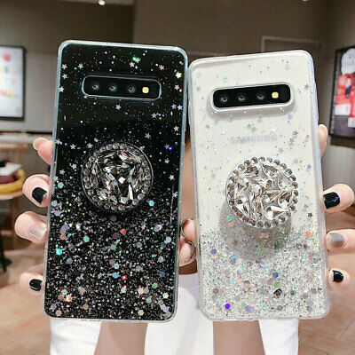 Crystal Bling Glitter Case For Samsung S10 Plus A10 A70 A50 With Holder Stand