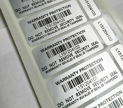 Tamper Proof Warranty Void Stickers Hologram Double Labels Security Seal label