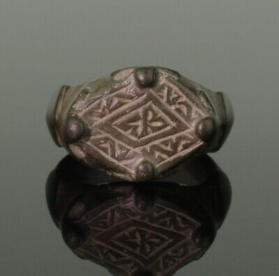 MAGNIFICENT ANCIENT VIKING HEAVY BRONZE RING - CIRCA 9th/10th CENTURY
