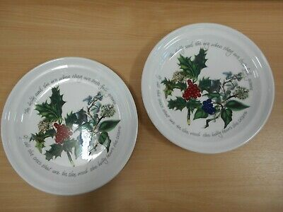 """Portmeirion Holly and the Ivy 10"""" Dinner Plate x 2 - Brand New"""