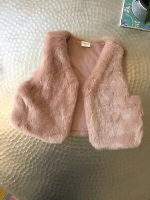 Next Girls Faux Fur Gilet Age 3-4 Years BNWT