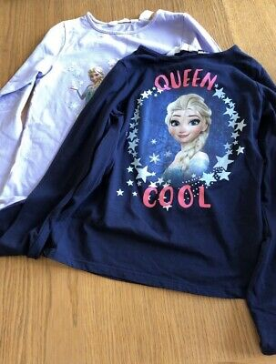 Girls Disney Frozen Long Sleeved Tops Aged 8-10 Years
