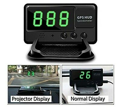 Car Digital GPS MPH/KM/h Speedometer HUD Display Overspeed Warning Alarm+Charger