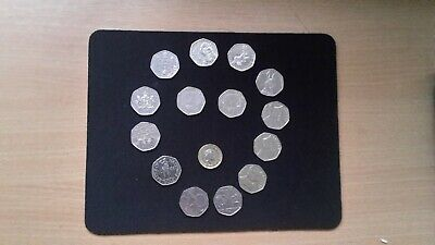 UK Brilliant Uncirculated and Circulated 15 Coin Set 50p + £1 2016