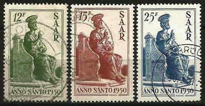 Germany Saar French Occ 1950 Used - Holy Year St Peter - Mi 293-295 SG-292-292