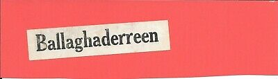 Ballaghaderreen - Irish Railways - Luggage Label