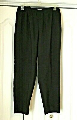 LAURA SCOTT WOMAN Petite Black Elastic Waist Front Pockets Slacks Sz 18WP
