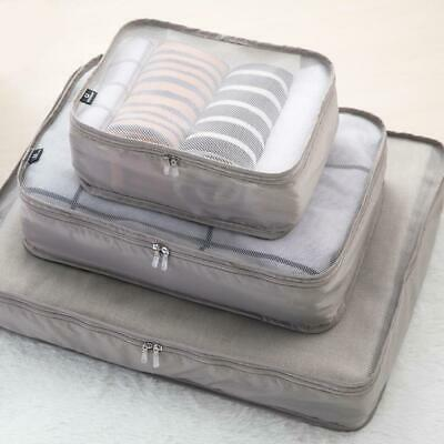 Travel Luggage Organiser Cube Clothes Storage Pouch Suitcase Packing Bags S/M/L
