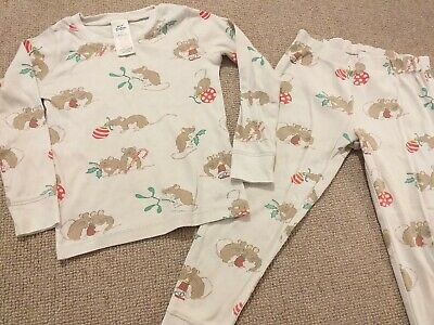 Baby Boden Boy Girl Christmas Mouse Pyjamas 2-3 years