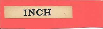 Inch- Irish Railways - Luggage Label