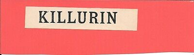 Killurin- Irish Railways - Luggage Label