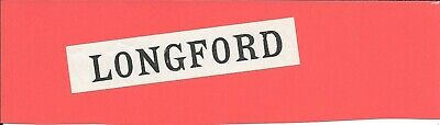 Longford - Irish Railways - Luggage Label