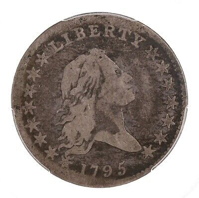 1795 Flowing Hair 50C PCGS Certified G06 Early US Silver Half Dollar Coin