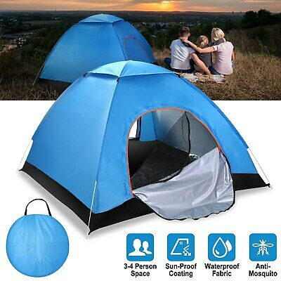 4-Person Instant Pop-Up Tent Camping Outdoor Family Hiking Shelter Waterproof