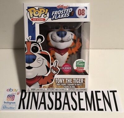 Funko POP Ad Icons 08 Flocked Tony The Tiger Holiday Christmas Limited 2000 New