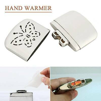 Metal Hand Warmer Petrol Reusable Pocket Portable Ski Winter Camping Hand Heater