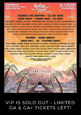 Rolling Loud Tickets LA December 14-15, 2019 Banc Of California Stadium And Expo