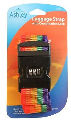 Adjustable Luggage Suitcase Travel Strap Band With Combination Security Lock