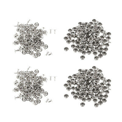 200xLeather Rivets Single Cap Rivets Metal Studs for Leather Craft Repairing