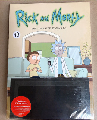 Rick and Morty: The Complete Series Seasons Season 1-3 6 DVD Box Set 123 1 2 3