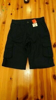 Boys NWT Navy Chino Cargo Shorts Trousers 9-10 George