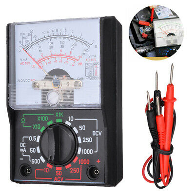 Analogue Multimeter AC DC Volts Ohm. Electrical Circuit Multi Tester Test US