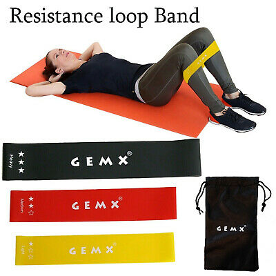 New Latex Resistance Bands Set Workout Exercise Yoga Elastic Hip Booty Loop Band