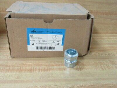 "Cooper Crouse Hinds 691 3/4"" Combination Coupling (Pack of 20)"