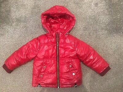 Girls Warm Winter NEXT Puffer Jacket Fur Lined With Hood Size 3 Years