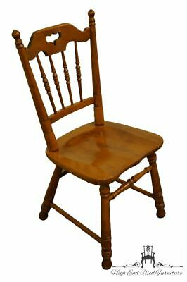 TELL CITY Solid Hard Rock Maple Colonial Style Dining Side Chair 8048 - #48 A...