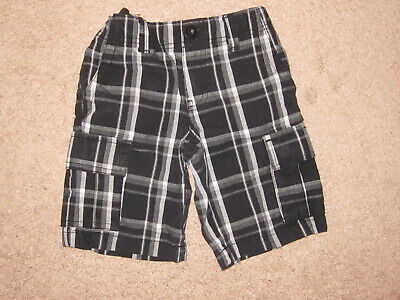 Boys Dickies Black Plaid Cargo Shorts (5)