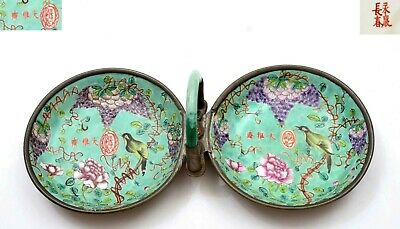 1930 Chinese Famille Rose Turquoise Porcelain Dish Pewter Basket Agate Glass 大雅齋