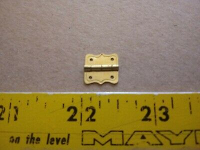 Vintage Solid Brass Mini Small Tiny Fancy Hinges Lot Box Dollhouse Lot of 100