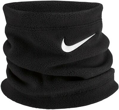 Nike Junior Youth Warm Winter Neck Warmer Soft Fleece Football Leisure Blk Wht