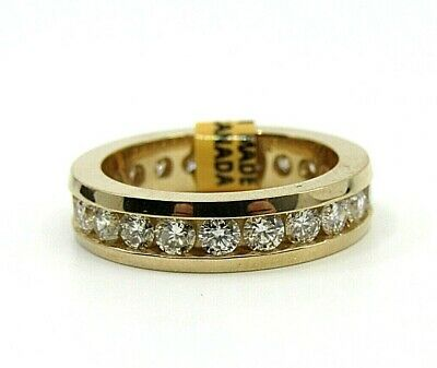 Brand New Authentic 14k Yellow Gold Eternity Band Channel Set Diamonds 2.00ctw