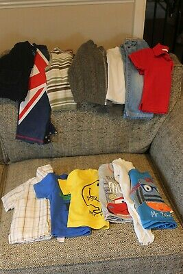 Bundle of baby boy's clothes, tops, vests jumpers sleepsuits age 6-9 months
