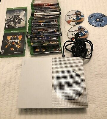 Microsoft Xbox One S 500GB Console - White TESTED Model 1681 w/ 15Games, +2 New